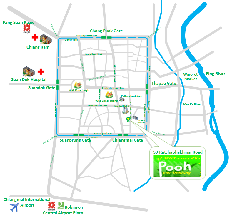 Street map for Pooh Eco-Trekking